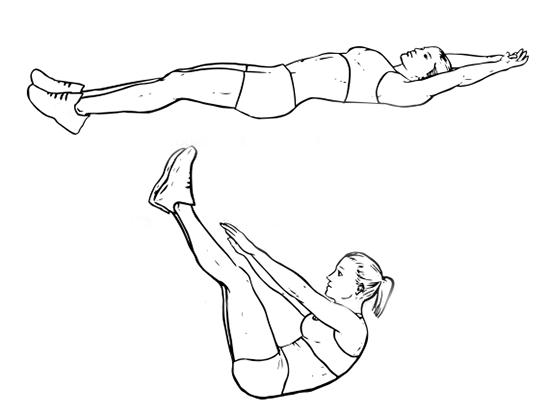 Вертикални коремни повдигания