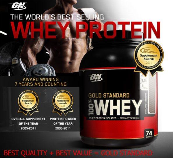 Прием 100% Whey Gold Standard by Optimum Nutrition